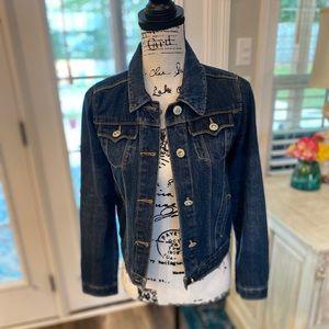 Levi Strauss Jean Jacket w/Oversized Gem Buttons